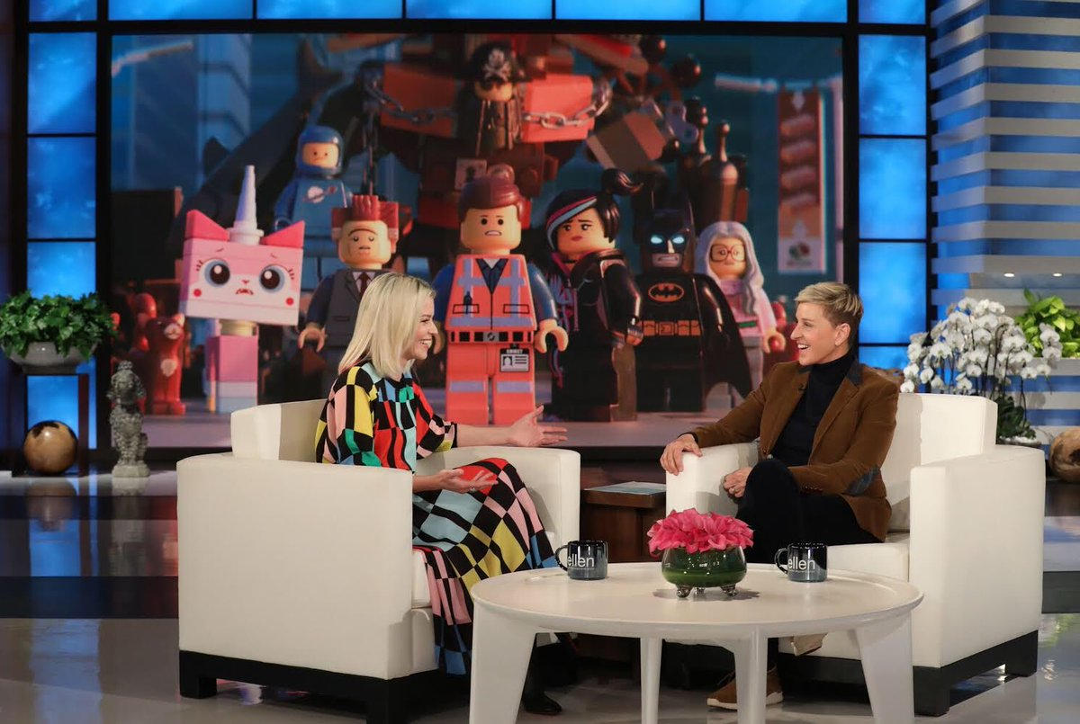 Me + @TheEllenShow + @TheLEGOMovie 2 = Today. Tune in. ???? Michael Rozman/Warner Bros https://t.co/9IhwvaDihS