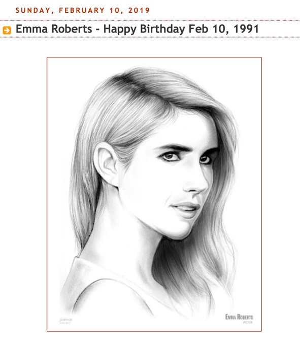 Happy Birthday, Emma Roberts... Born Feb 10, 1991.