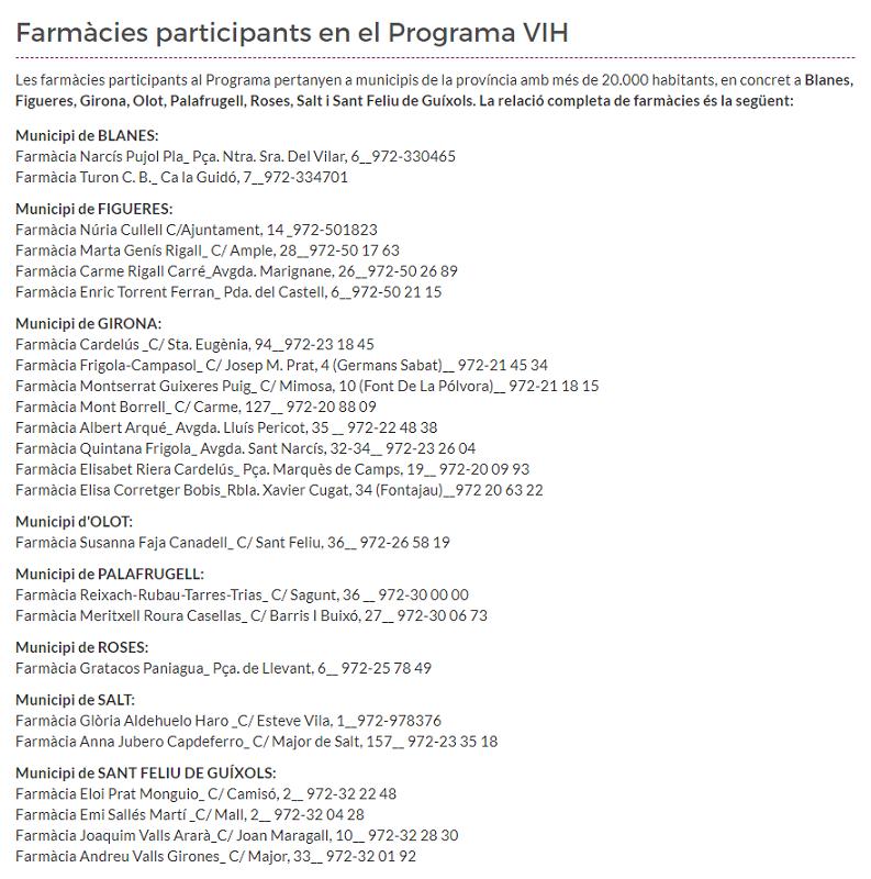 test Twitter Media - 📣 Coneixes el Programa de determinació del risc d'infecció per VIH que realitzen les farmàcies? Consulta les oficines participants a la província de Girona! https://t.co/sjbJGU14lt https://t.co/tcLDT3j8sE