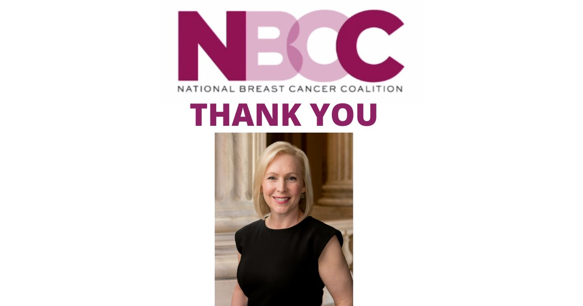 test Twitter Media - Thank you, @SenGillibrand. Your cosponsorship of #S1312, the Metastatic Breast Cancer Access to Care Act, means metastatic breast cancer survivors won't have to wait to get Medicare and SSDI benefits. #NBCContheHill https://t.co/POhctsPmbR