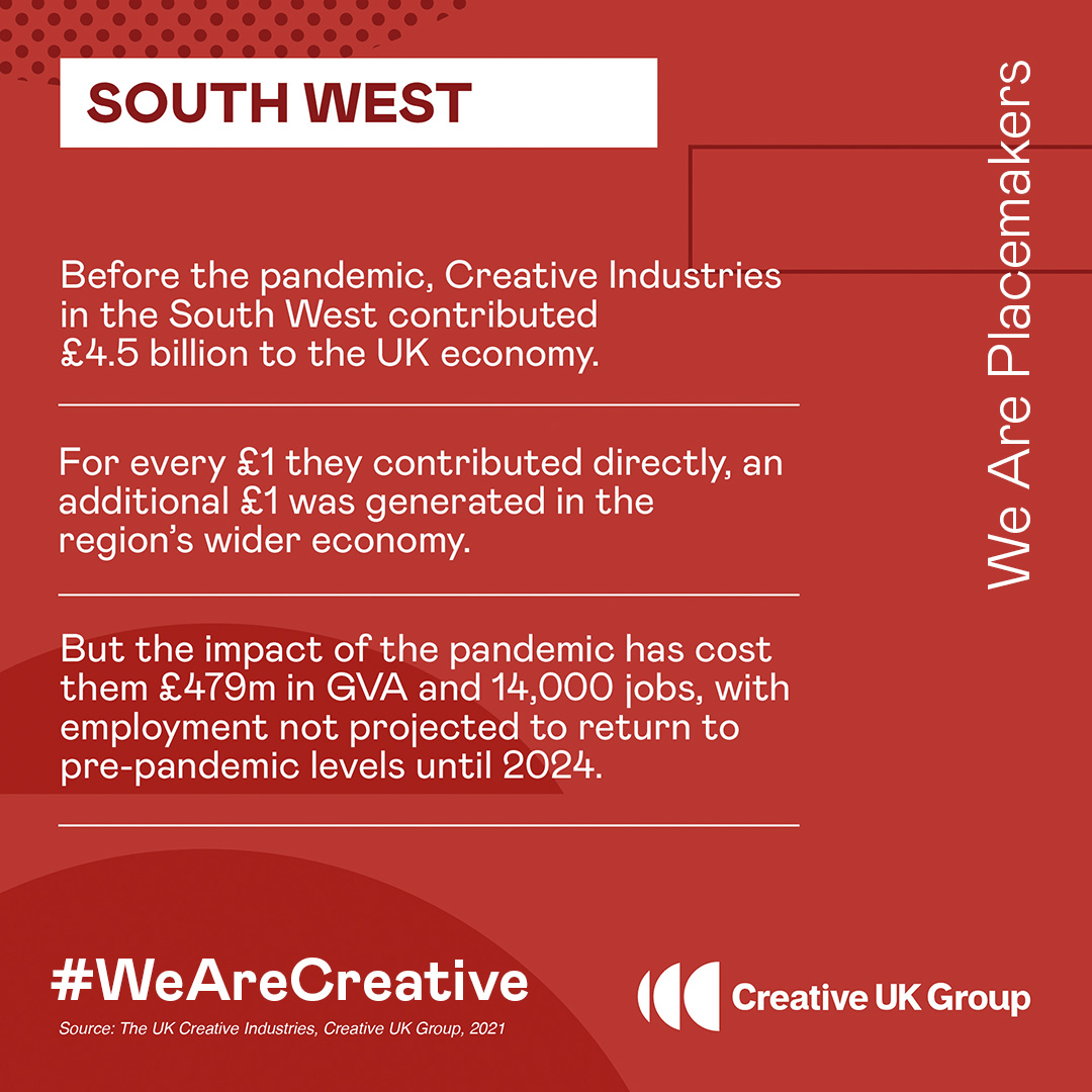 #Bristol & the South West's creative industries make a huge contribution to the UK economy - with the right government support we can play a major role in the UK's post-pandemic recovery. #WeAreCreative  @karinsmyth @darrenpjones @KerryMP @ThangamMP https://t.co/ybRmYNNnSN