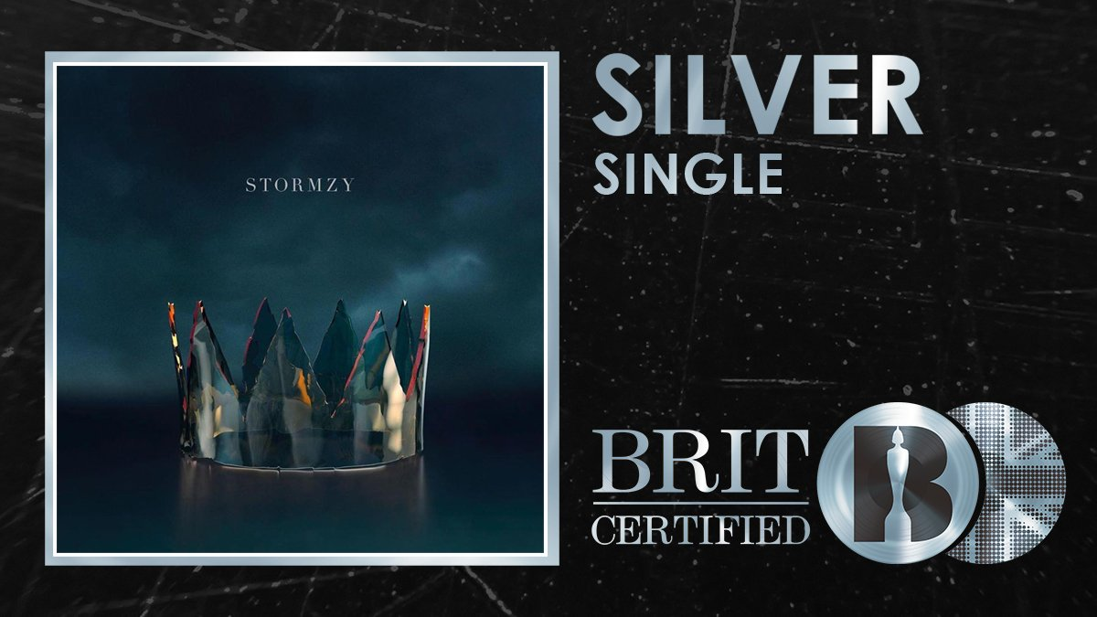 RT @BRITs: 👑 @stormzy has just landed a new #BRITcertified Silver seller with 'Crown'! Congrats! 🇬🇧💿 https://t.co/zI3n13wuV2