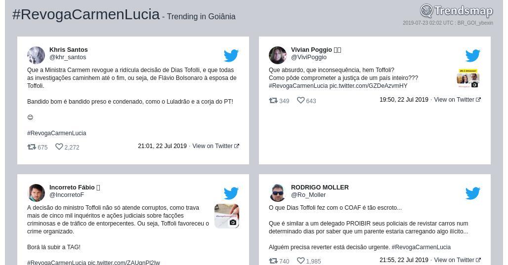 RT @TrendsGoiania: #revogacarmenlucia é tendência em #Goiânia  https://t.co/kKzEB78y3a https://t.co/3SnTdMFeF9