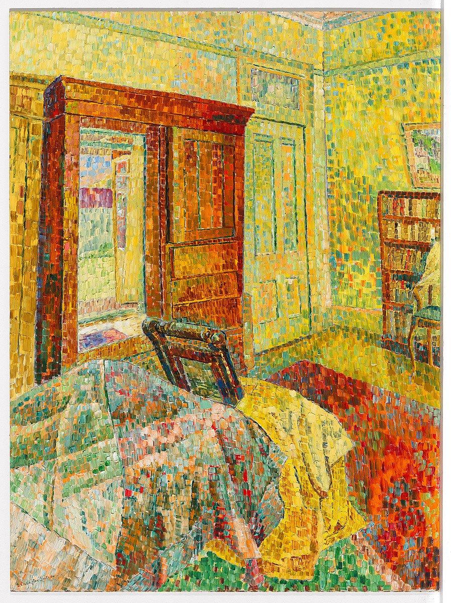 Interior in yellow    1962-1964   Grace Cossington Smith. https://t.co/uCvravRLJK