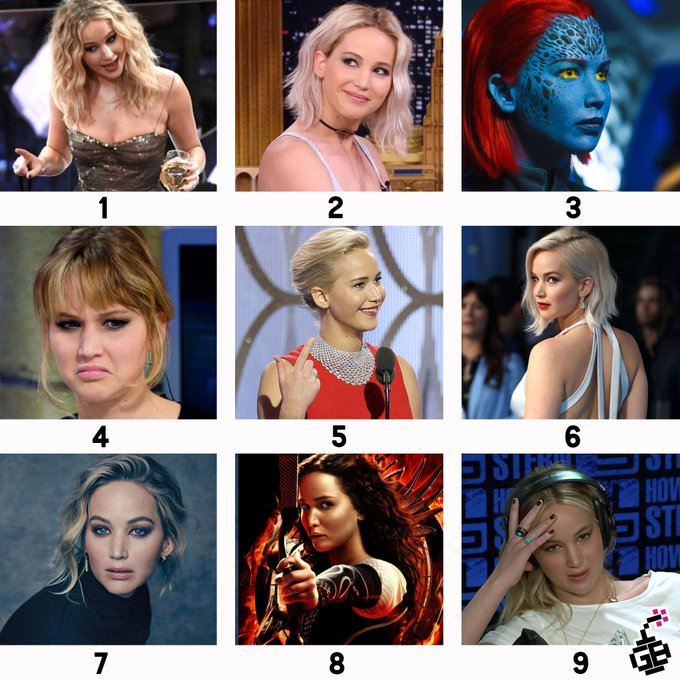 Happy Birthday to We your work and your sass.  Which Jennifer Lawrence is your MOOD today?