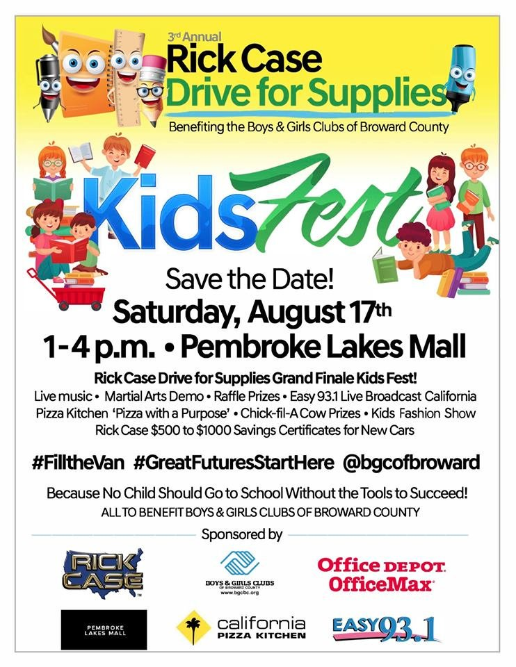 test Twitter Media - Thank you @JOSHMBB19 from #BigBrother19  for joining us at #Kidsfest Sat. Aug 17 supporting @BGCofBroward  #RickCaseDrive for supplies benefiting #BoysandGirlsClubsBroward with @easy931 @PembrokeLakes  @rickcasegroup @officedepot @calpizzakitchen @jcpenney @ChickfilA #fillthevan https://t.co/oM8KKBBWoM