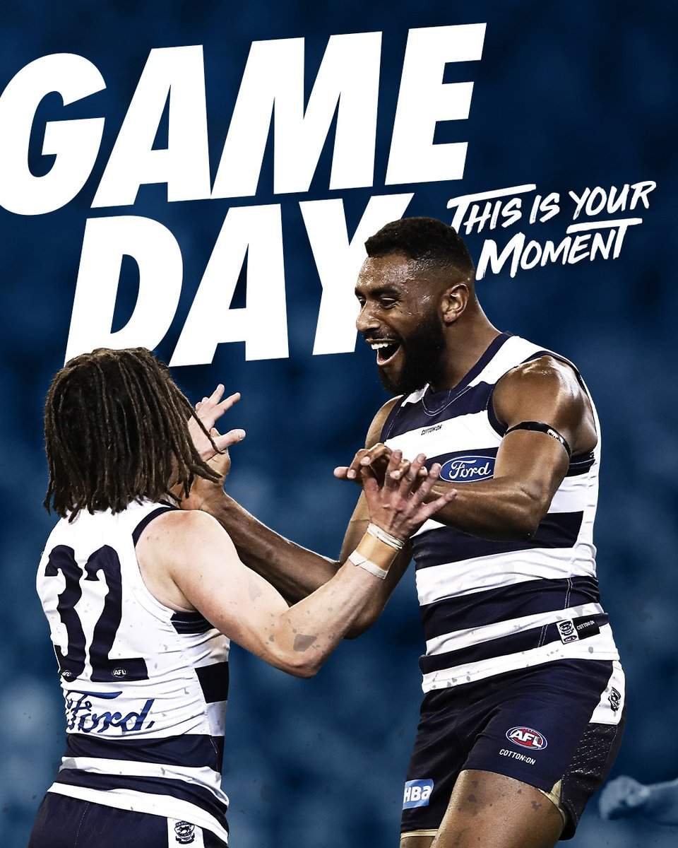 The next challenge presents.  🆚 Richmond 🏟 MCG ⏰ 7:50 PM 📺 Channel 7, Fox Sports 📻 K rock #AFLTigersCats #ThisIsYourMoment