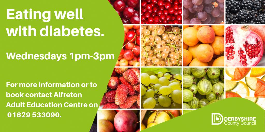 test Twitter Media - We're running a 5 week course helping people with #diabetes to learn how to shop, cook & adapt recipes to suit their dietary needs. This starts Wed Sept 25th at #Alfreton ACE Centre 1pm-3pm & there's a £3 a week cost to cover ingredients. To book a place then call 01629 533090 https://t.co/PqOdLIYA2w