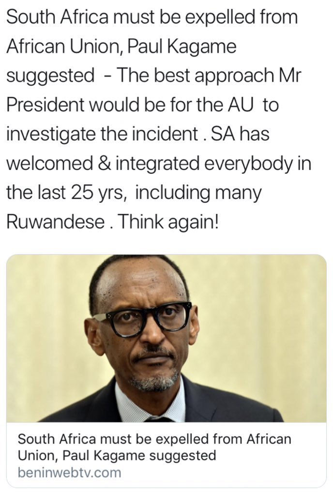 test Twitter Media - #FAKENEWS ALERT 🚨  This fake story by fake news site @beninwebtv carrying fake comments attributed to Rwandan President @PaulKagame is dangerous & aimed at sowing divisions among Africans across the continent. In the age of fake news, please verify your sources before retweeting https://t.co/BnbU3haptT