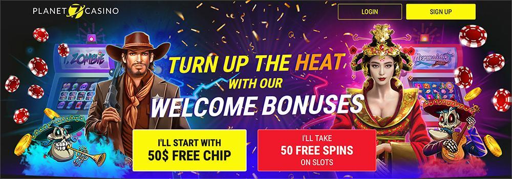 🚨 #Planet7Casino are offering 50 #FreeSpins or $50 #Free for new players! Sign up here and pick your bonus  🎰🎰 #Bitcoin #USCasino #Australia #Planet7 #BestCasino #iGaming #BitcoinSV #cryptocasino #slots #slotsbonus #rtgcasino #pokies