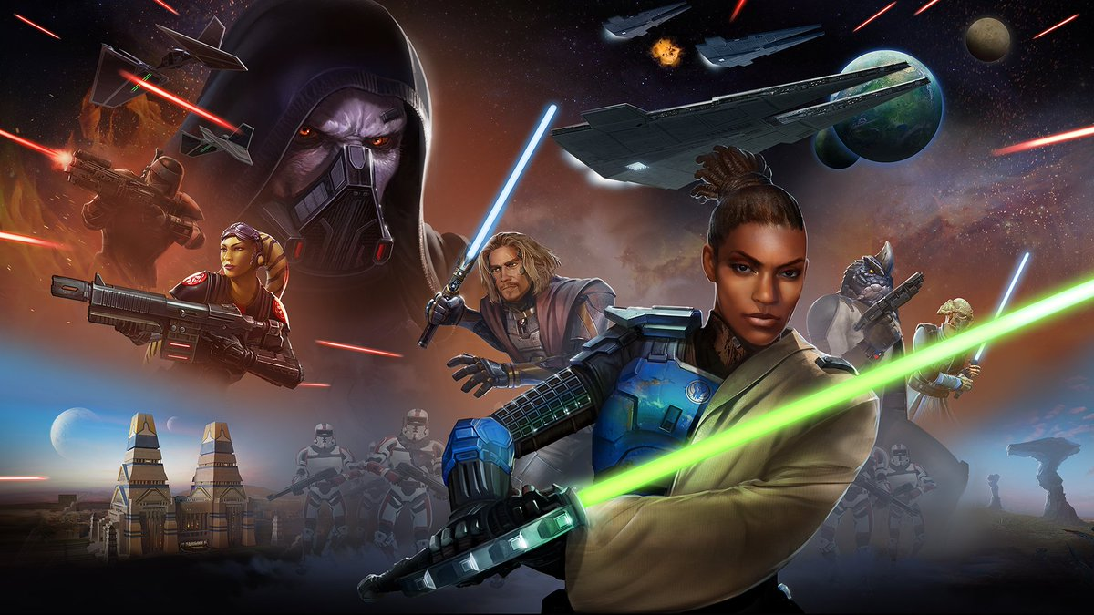 test Twitter Media - Seven days left until the launch #SWTOR Onslaught! The armies of the Galactic Republic rally to fend off the overwhelming forces of the Sith Empire as conflict reignites. Both sides are desperate to achieve victory. https://t.co/mWmBEDElaM