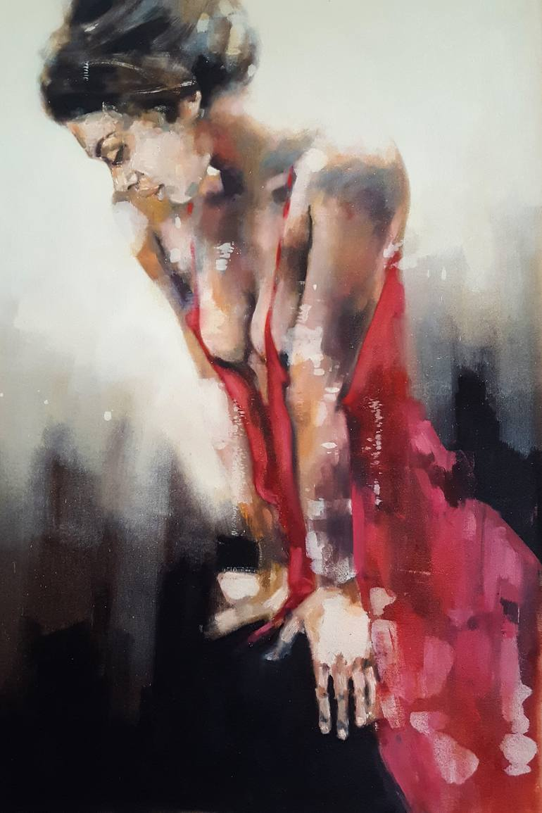 Thomas Donaldson - figure with red dress 9-7-19 https://t.co/BdloHmzWCu