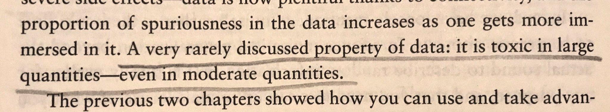 Data - the problem & solution #antifragile #Talebism https://t.co/byWMXQwWUl
