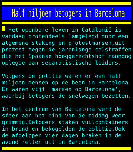 test Twitter Media - Half miljoen betogers in Barcelona https://t.co/vznRdPE42A