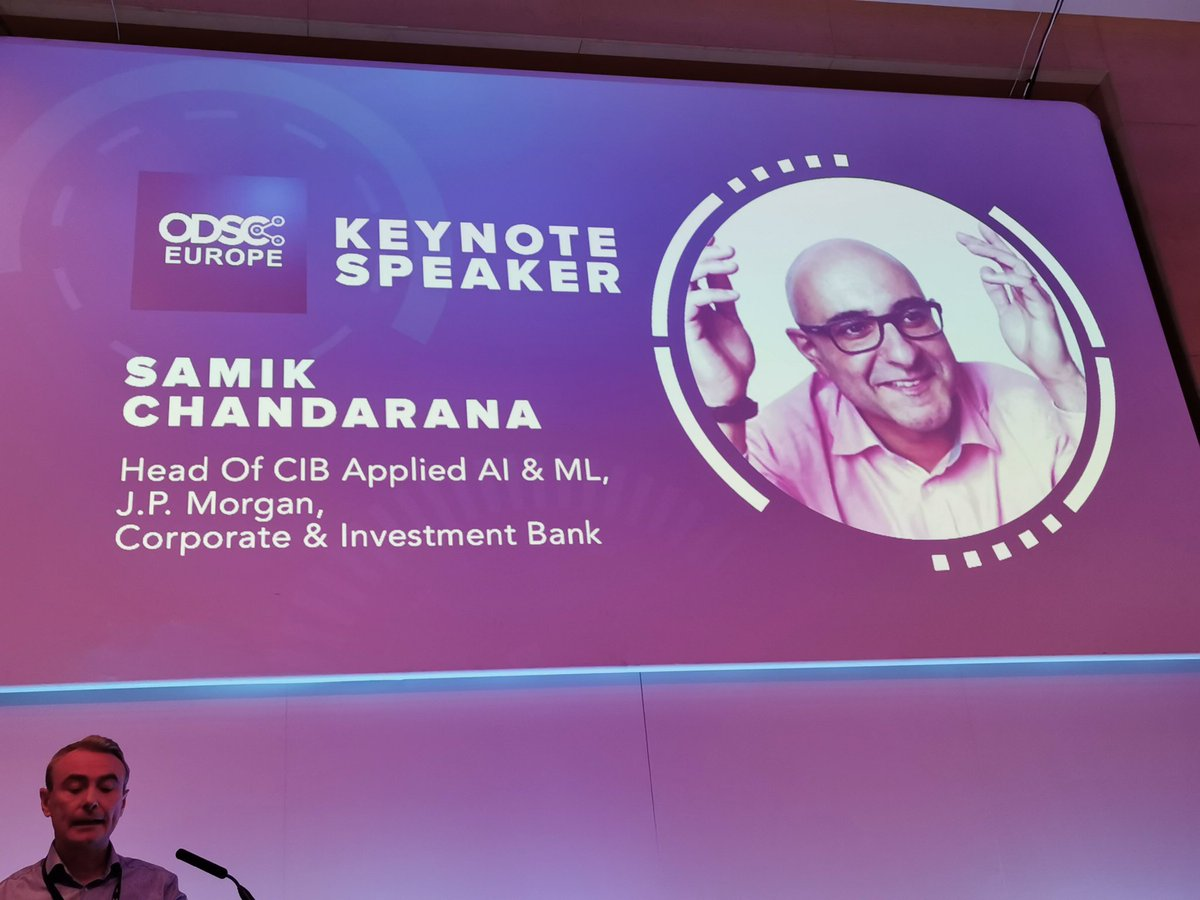 test Twitter Media - Fantastic part one Keynote from Samik, he's a Dreamer who is posited with an AI expert = dream even bigger!   Please use the HASHTAG!   #ODSCEurope  #DataScience #AI #MachineLearning #Python #rstats #DeepLearning https://t.co/XCFVyLNpOv