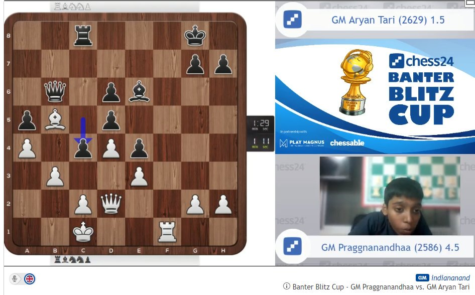 test Twitter Media - It turns out 14-year-old Praggnanandhaa is not only a great player but an excellent commentator! LIVE now: https://t.co/IE6NFRsWDG  #c24live https://t.co/lveWBjsR7l