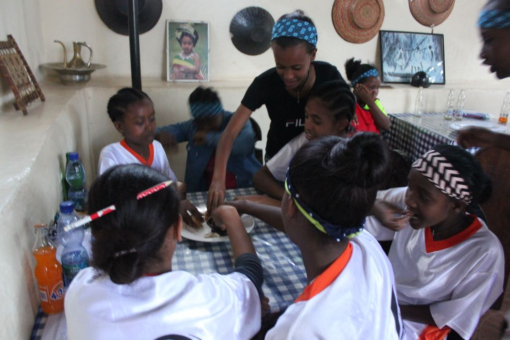 test Twitter Media - This was such a special day! We took 50 young women in the Girls Empowered Through Soccer (GETS) program in Harar out to eat at a restaurant! They had a blast. Rice, pasta, and traditional dishes were most popular. It was the very first time EVER at a restaurant for a few girls. https://t.co/h5viHj1vec