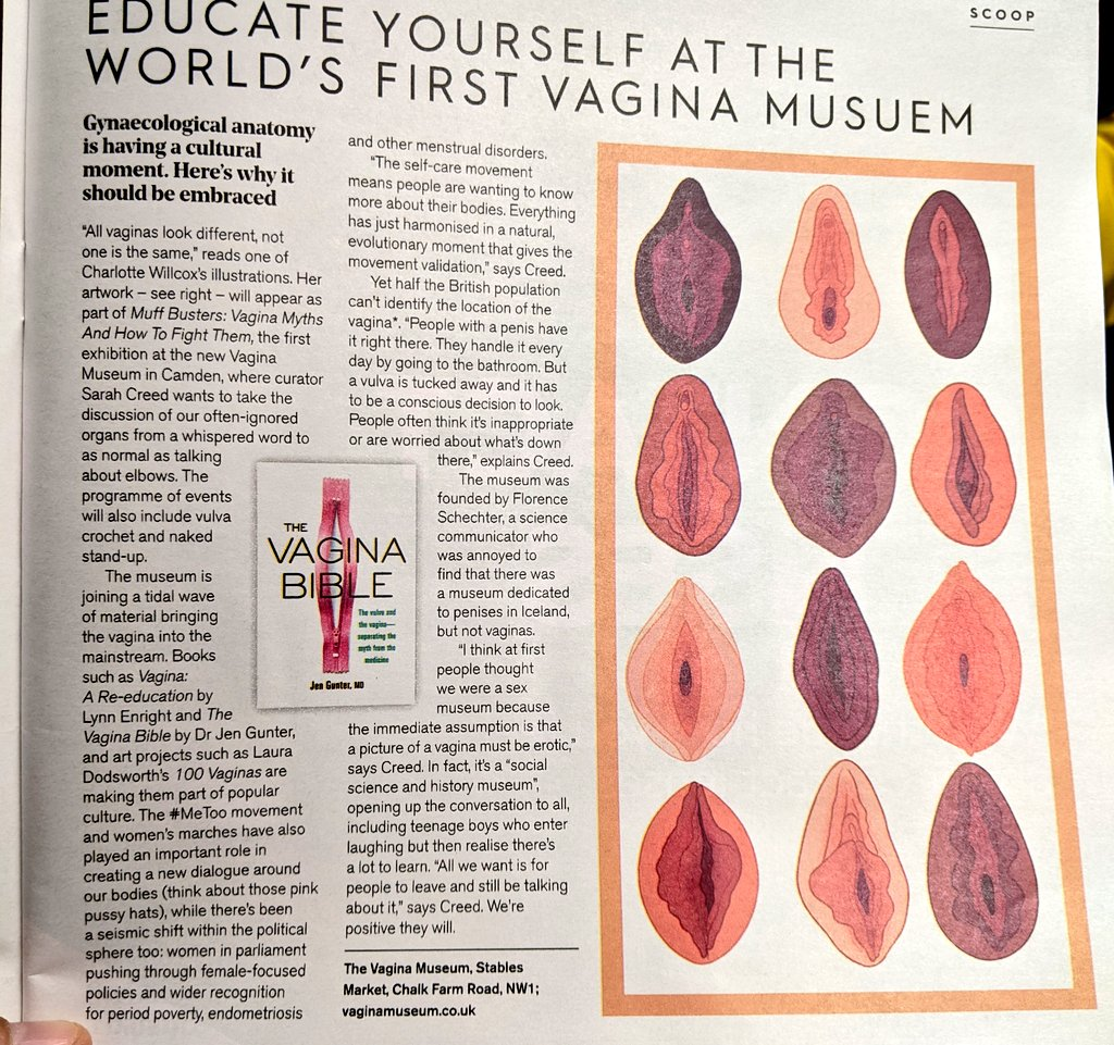 test Twitter Media - In the @StylistMagazine this week, we learn about the @vagina_museum at Camden. It seems really intriguing. FYI, they write it's not a sex museum. It's more recognised as socio-historical & cultural institute. Anthropologists' and cultural historians' dynamite! #vaginamuseum https://t.co/pTbkZnh95E