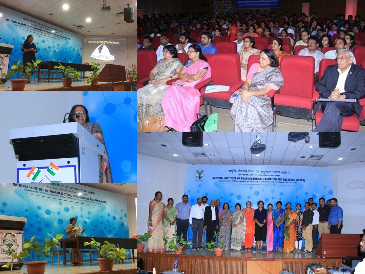 .@RoySocChem Local Section Deccan, in association with @NIPERAHM, recently organised a half-day seminar on women's empowerment.  Talks were given by Dr C Ambuja, professor at Osmania medical college and Mrs B Aishwarya, Lt. Commander in the Indian Navy ➡️