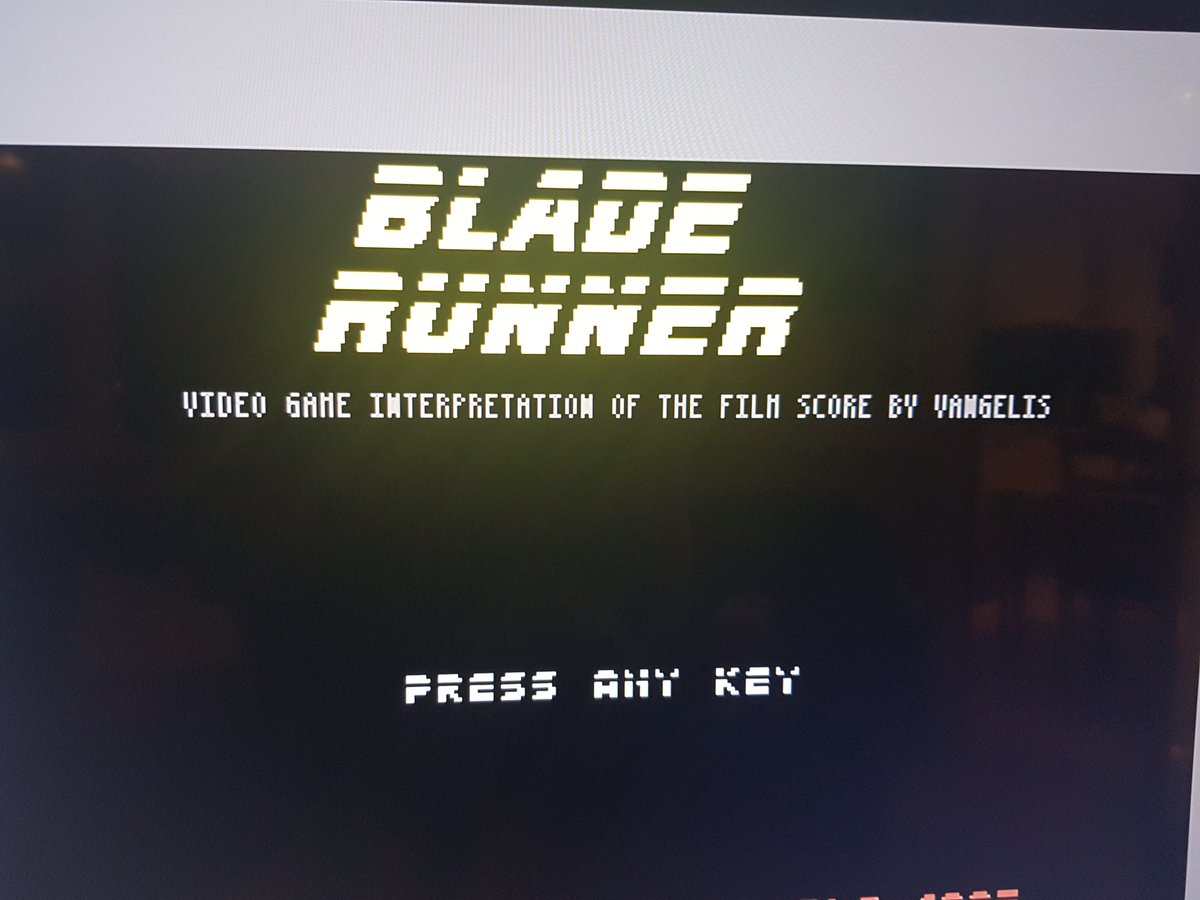 test Twitter Media - Missing out on a Blade Runner/Blade Runner 2049 double feature at the cinema tonight cos of the poxy storm but all is alright. The #BladeRunner Commodore 64 game (based on the films SOUNDTRACK) is making up for it 😐 #nesclassic #commodore64 https://t.co/vLl1zggKyr