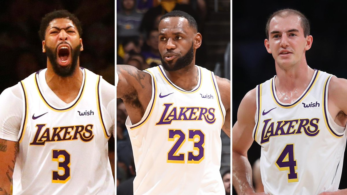 test Twitter Media - Nothing was stopping the Lakers' three-headed monster Sunday night:  Anthony Davis: 50 points LeBron James: 32 points, 13 assists Alex Caruso: 16 points https://t.co/baSt9rdD3P