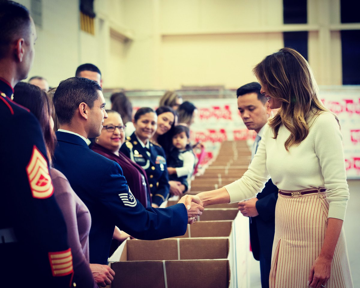 For nearly seven decades @ToysForTots_USA and the @USMC have been dedicated to ensuring that all children have a toy under the #Christmas tree. Today I was joined by military families to support this effort and spread holiday cheer within our community!