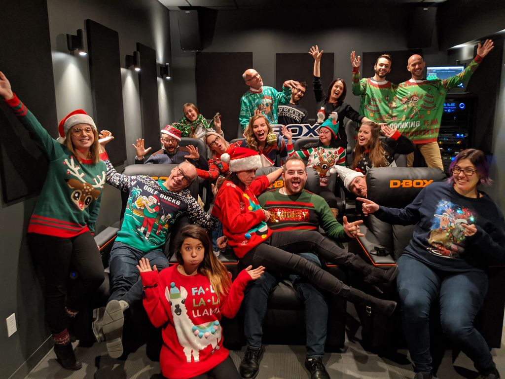 test Twitter Media - Nothing can't stop us when it comes to the #NationalUglySweaterDay. Thought on how good we look?   #UglySweaterDay  // Rien ne nous arrête lorsqu'il s'agit du #UglySweaterDay. Que pensez-vous de nos chandails? https://t.co/KL94lgVZux