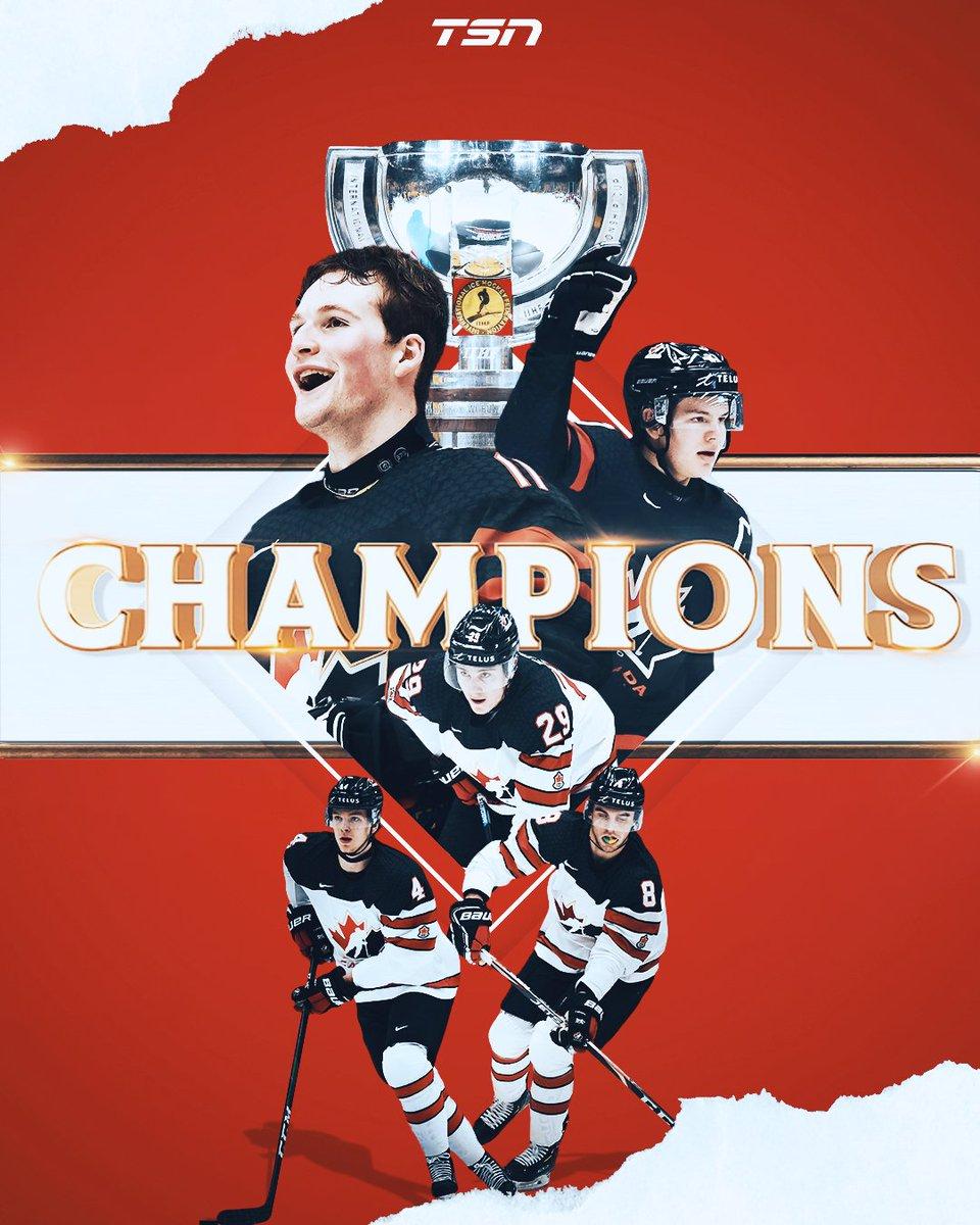 test Twitter Media - RT @TSN_Sports: Back on top! Canada 🇨🇦 beats Russia 🇷🇺 4-3 to win the World Juniors! 🏆 https://t.co/qgv9JTwnoJ