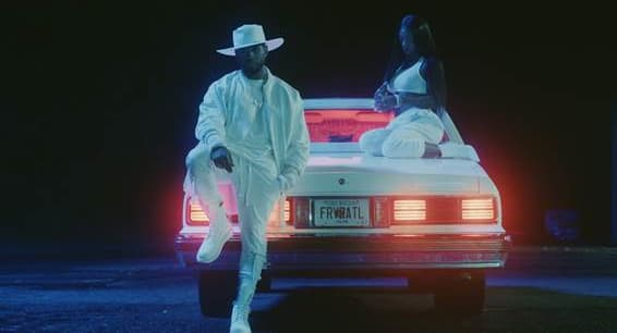 """.@IAMSUMMERWALKER and @Usher link up in the """"Come Thru"""" video."""