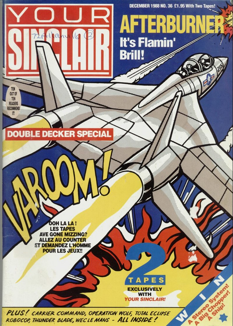 test Twitter Media - Retrogaming Magazine of the Day! #1445  Publication: Your Sinclair Issue: 36 Date: Dec 1988 Format: Sinclair https://t.co/AIjY4Hzv4f