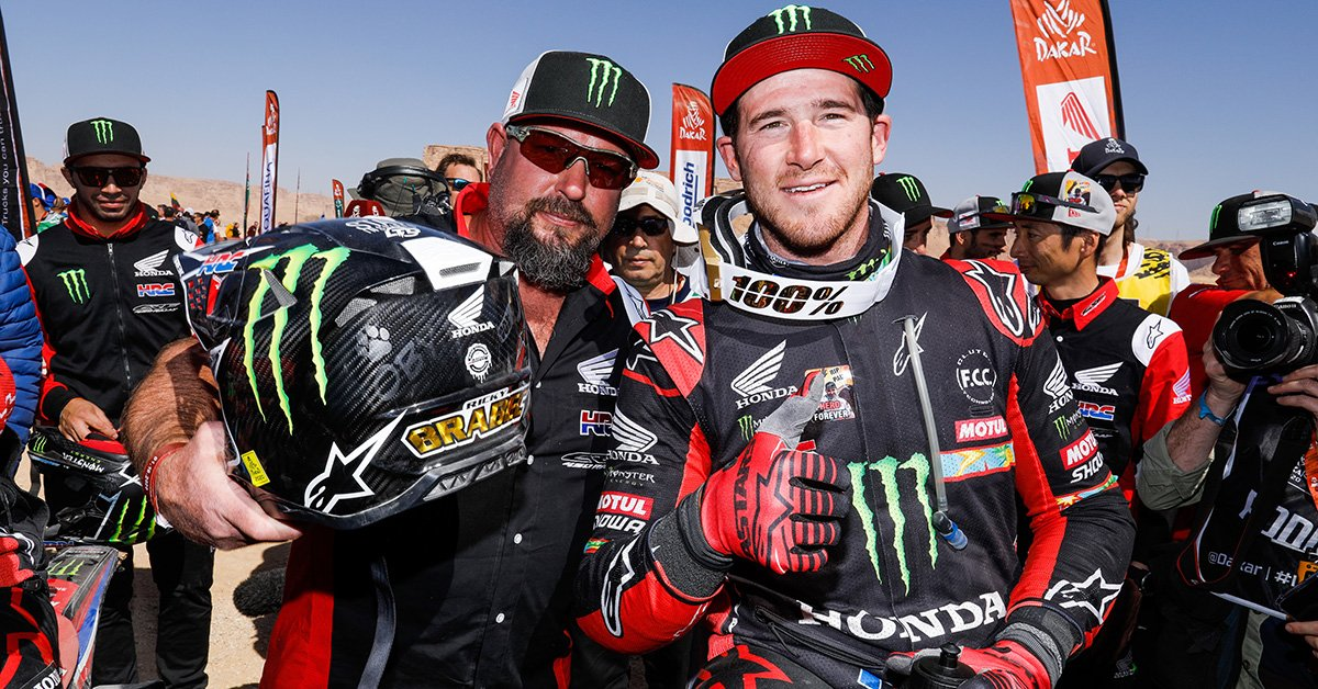 Big congratulations to @rickyB357 and the whole @RallyTeamHRC team for bringing it home and returning to the top step after a 31 year hiatus and breaking KTM's 18 year run. #Dakar2020 https://t.co/PXDuUuGayr