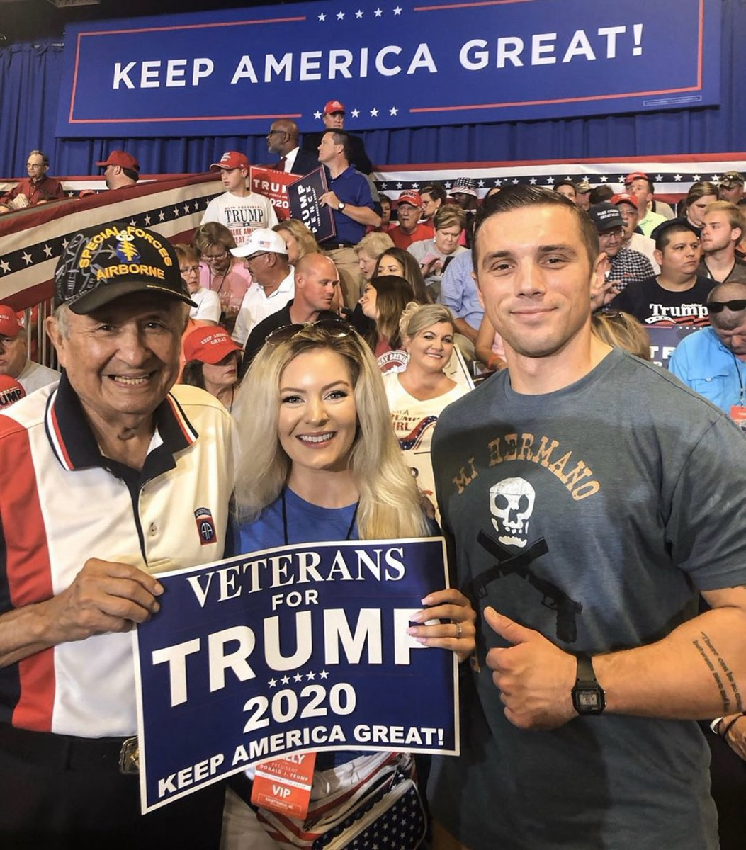 How can anyone who served in any branch of the Military call themselves a Democrat.. Trump is all in for National Security and that is important to me. #veteransfortrump