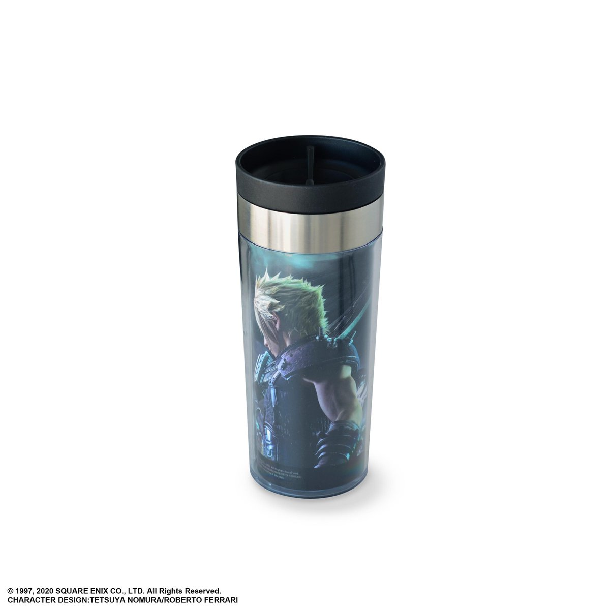 Presenting Metallic Art Tumblers, celebrating @finalfantasyvii Remake. With Cloud and Sephiroth designs, these make amazing gifts for FINAL FANTASY fans!  Pre-order on the @SquareEnix eStore by 2/6 for 10% off.  Cloud:  Sephiroth: