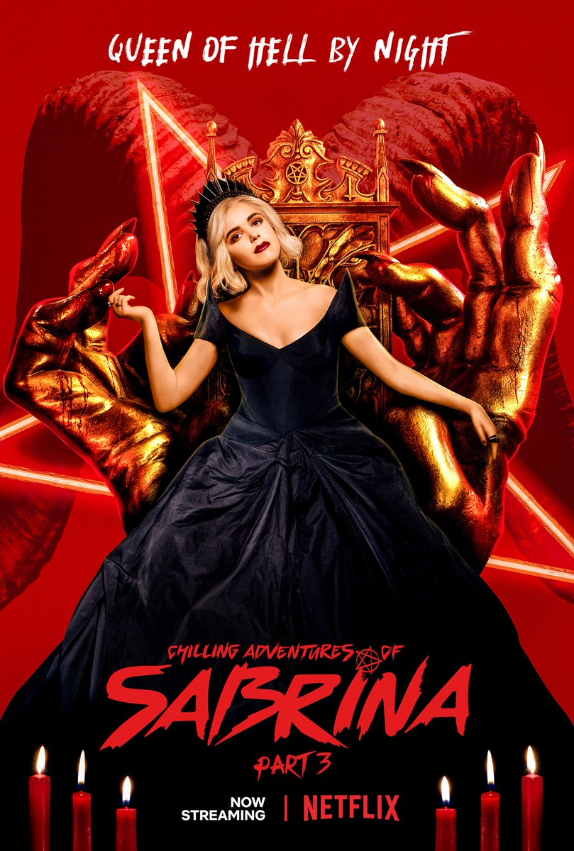 all hail sabrina 😈 caos is now streaming.