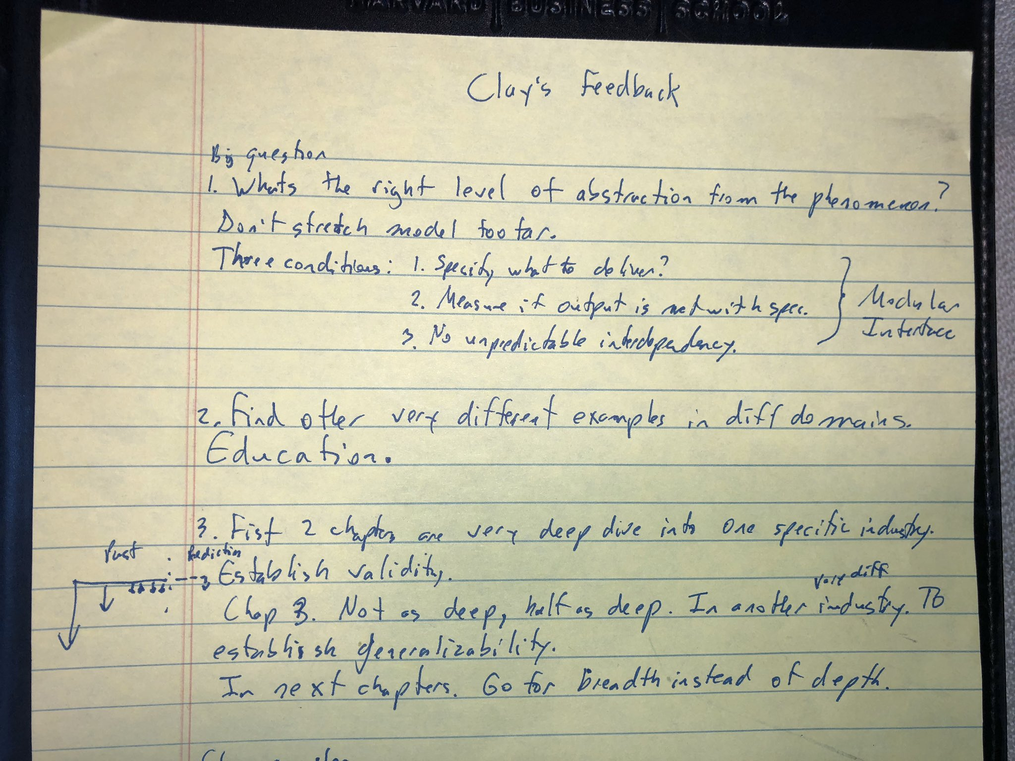 This was Clayton Christensen's feedback to me when I first showed him my ideas about #decoupling. He also explained to me how he structured The Innovators Dillema. RIP my hero. https://t.co/4dk3EJTFfg