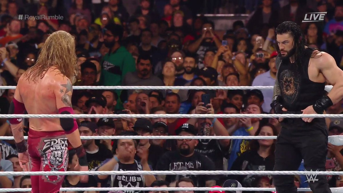 Did you ever think you'd see this?  #RoyalRumble #MensRumble @EdgeRatedR @WWERomanReigns