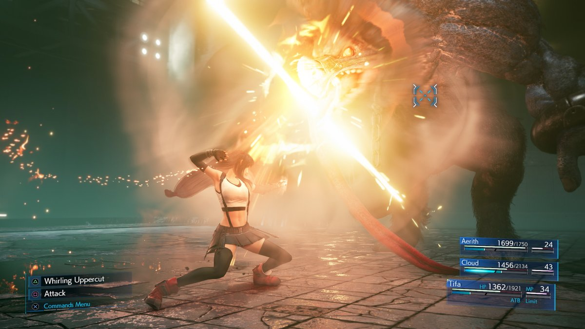True Strike will quickly hit enemies in front of you, and Tifa can also finish off enemies with a tremendously powerful kick from mid-air! #FF7R