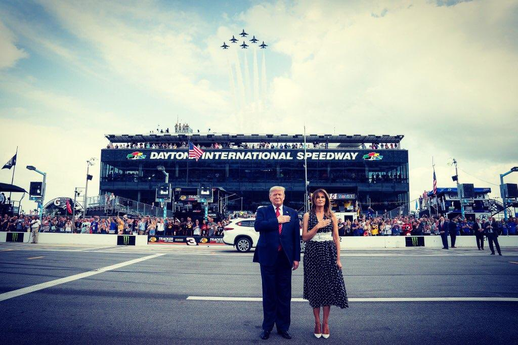 Thank you @NASCAR and @DISupdates for a patriotic & fun afternoon! #DAYTONA500