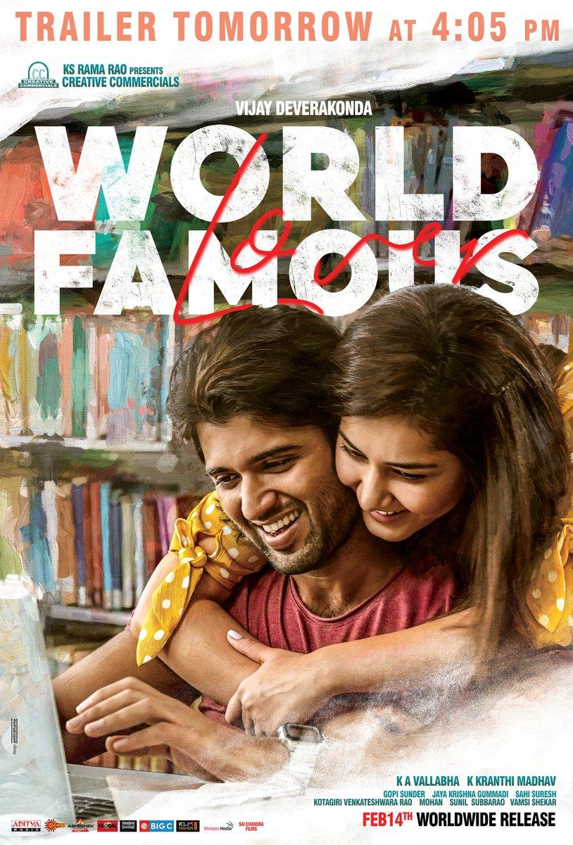 Experience #WFLTrailer from tomorrow @ 4:05PM 💕  #WorldFamousLover @TheDeverakonda @RaashiKhanna  @izabelleleite25 @aishu_dil @ksramarao45 #Kranthimadhav #KAVallabha @adityamusic @sahisuresh   #WFLonFeb14