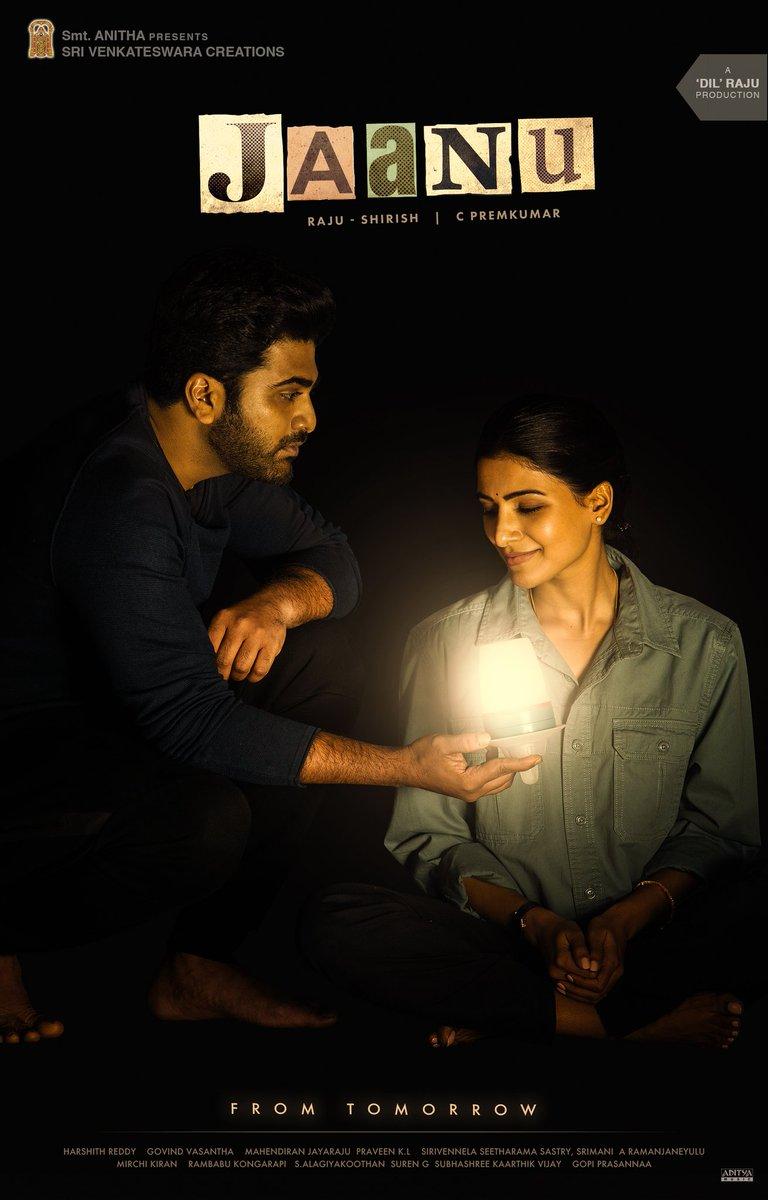 #JaanuFromTomorrow @Premkumar1710 #Sharwanand @Samanthaprabhu2   24 Hours to go!  @SVC_Official @Govind_Vasantha #JMahendran @CinemaInMyGenes #SVC34 @gopiprasannaa