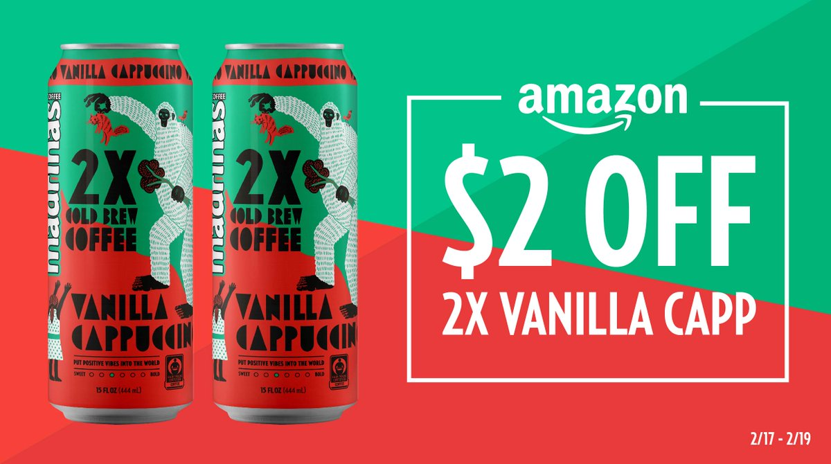 Sweet Coffeeheads, where you at?! 📢 2X Vanilla Cappuccino is $2 OFF on Amazon for a limited time! 🙌  ☕️