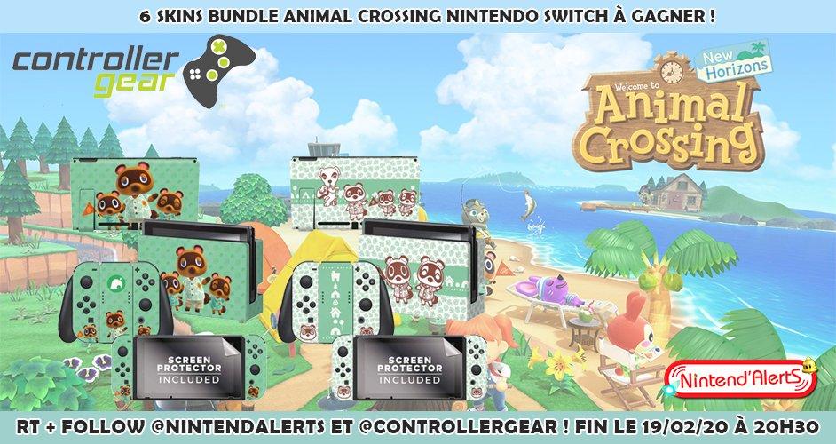 #Concours : 6 Skins bundle #AnimalCrossingNewHorizons Nintendo Switch par Controller Gear à gagner ! Follow @nintendalerts et @ControllerGear + RT ce tweet et tague un ami. Fin le 19/02 à 20h30 ! Conditions pour participer au concours ►