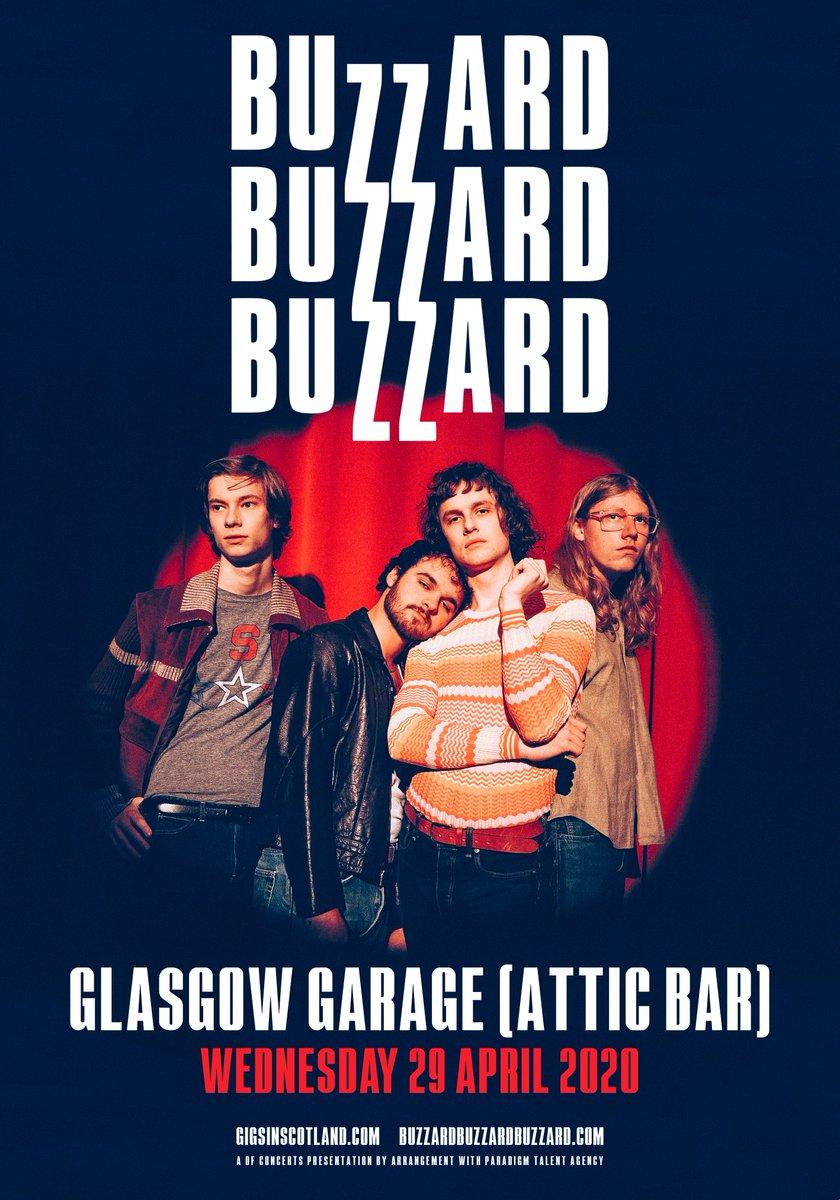 ON SALE » @buzzardbuzzard tickets for the @Garageglasgow Attic Bar gig on 29th April are on sale NOW!  TICKETS ⇾