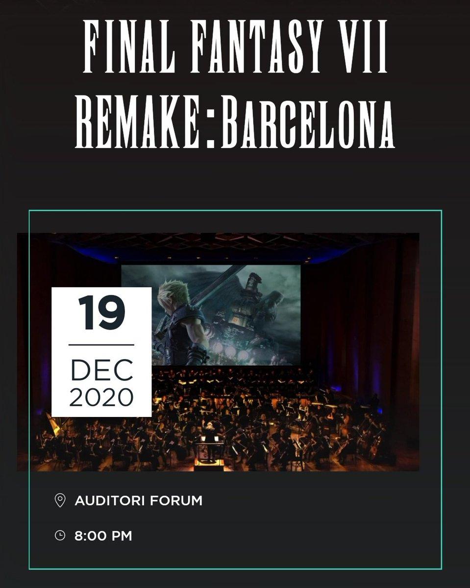 ¡La música de #FinalFantasy vuelve a España! El 19 de diciembre de 2020 la FFVII Orchestra World Tour dará un concierto en el Auditori Forum de BARCELONA 🎶🎶 Más detalles en