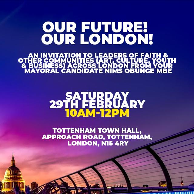 Our Future! Our London! Let's talk about it. Register using link in Bio  #nims #nimsforlondon #independent #Mayor #elections #labour #conservative #libdems #communities #build #together #experts #enoughisenough #stepup4london #togetherwecan #votenims
