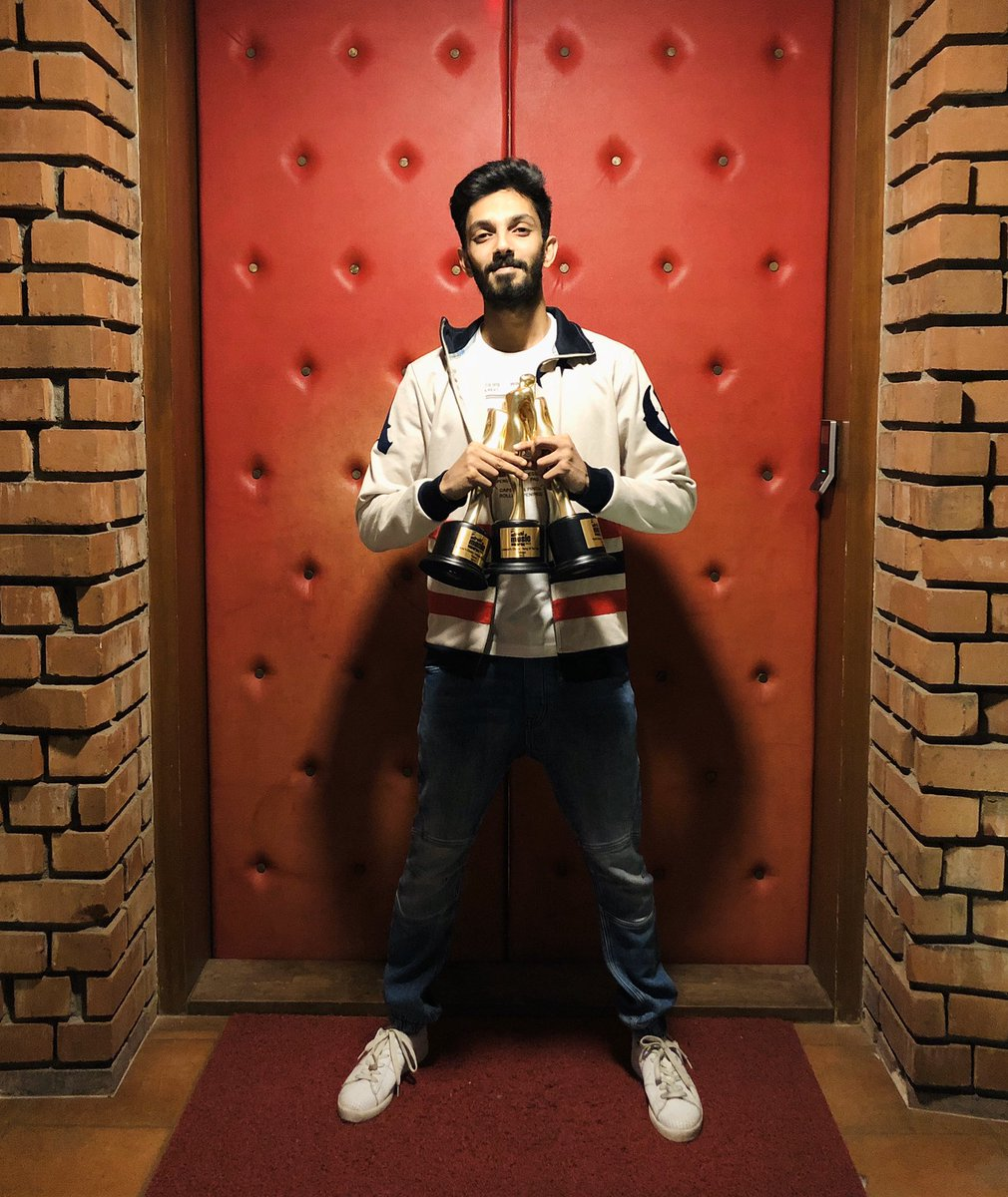 Thank you #MirchiMusicAwards , jury and the fans for the 3 statues.. #Petta #GangLeader @MirchiTamil983