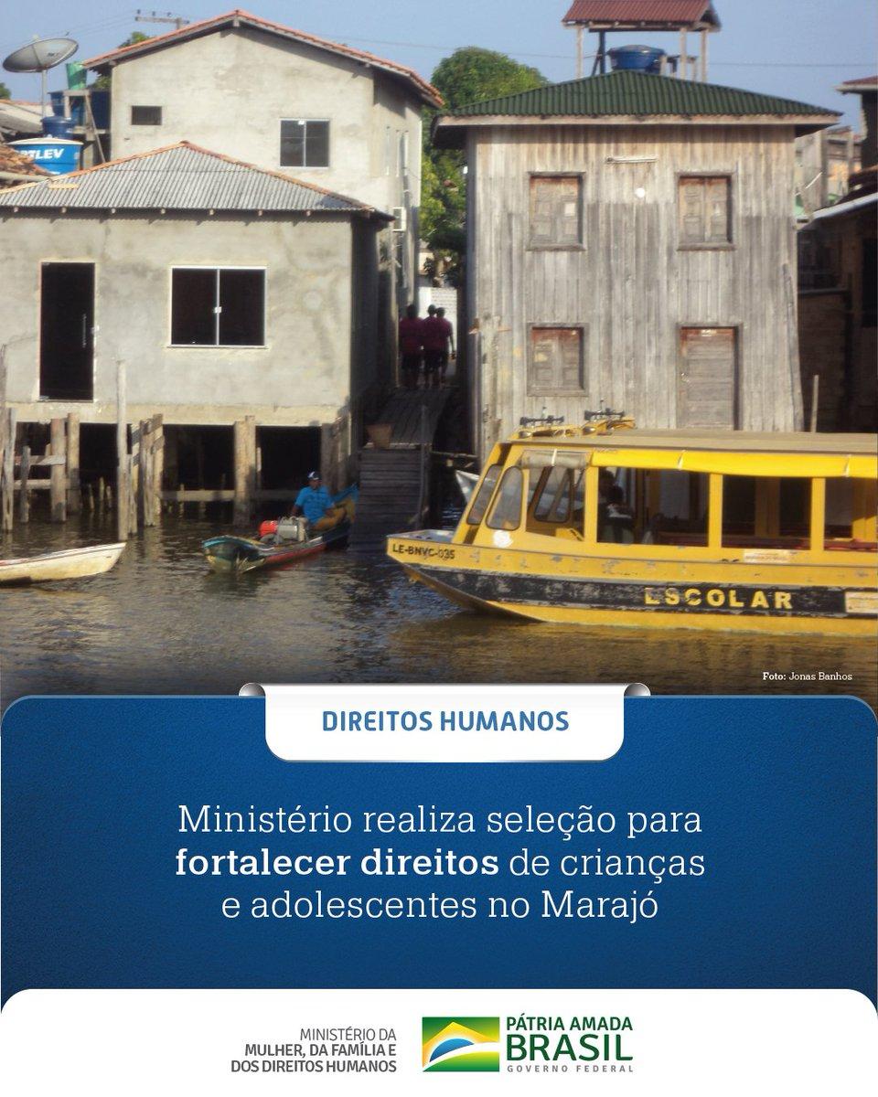 #Informação  O @DHumanosBrasil realiza seleção para fortalecer direitos de crianças e adolescentes no Marajó.  Saiba mais em: