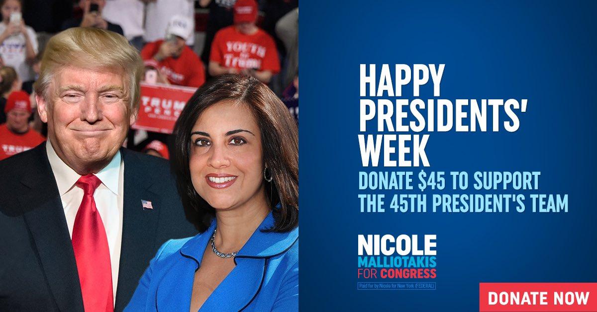 #HappyPresidentsDay Support the President's winning #NY11 team: