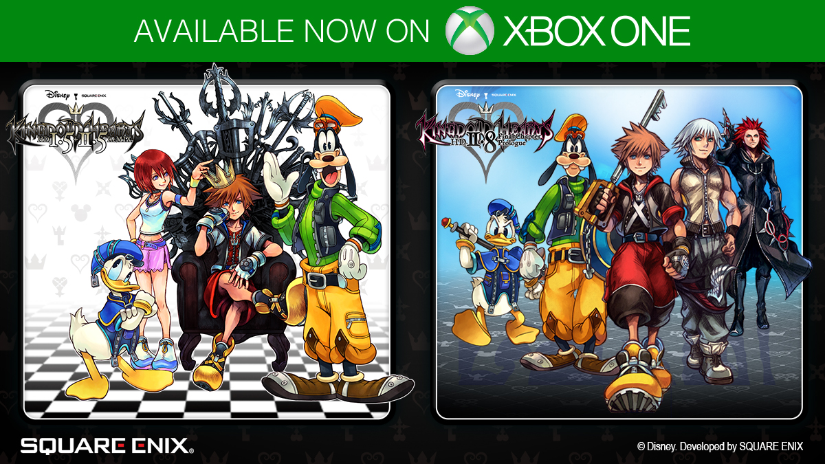 Today, for the first time ever, KINGDOM HEARTS HD 1.5 + 2.5 ReMIX and KINGDOM HEARTS HD 2.8 are available digitally on @Xbox One!   We're also excited to announce that #KingdomHearts III will be available on #Xbox Gamepass from February 25!