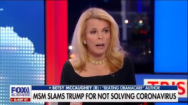 The liberal media now BLAMING #POTUS for not doing enough to solve the #coronavirus crisis. @Betsy_McCaughey says #MSM is WRONG and that @realDonaldTrump was prepared since day 1, watch: